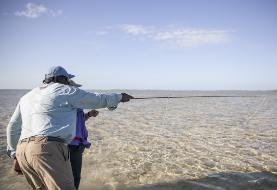 Spotting bonefish by Hollis Bennett.