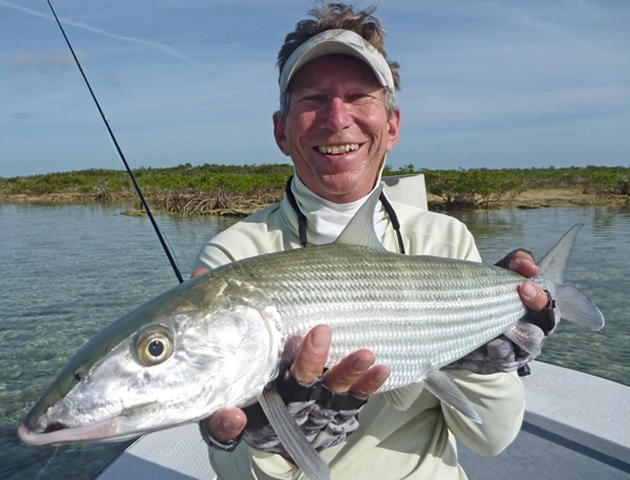 Winter fly fishing for bonefish.