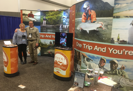 Deneki Outdoors at the Fly Fishing Show.