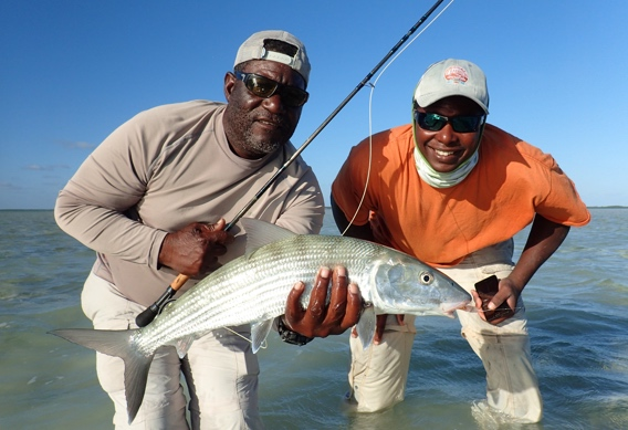 Ten pound bonefish from Andros South guide, Josie Sands.
