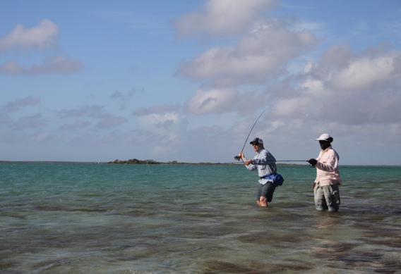 Tim Rajeff casting for bonefish at Andros South.
