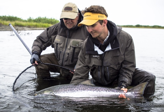 Spey fishing for chrome bright king salmon