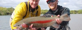 Big leopard rainbow trout from Alaska West