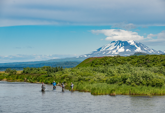 Fly fishing Bristol Bay at Rapids Camp Lodge by Abe Blair