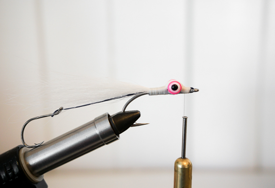 How to tie a stinger hook Clouser minnow