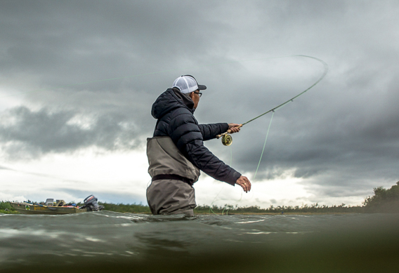 Brian Chan casts into a mean headwind in Alaska