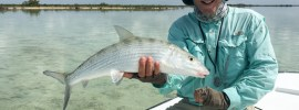 Rocky Lipsman with a big bonefish from Andros South