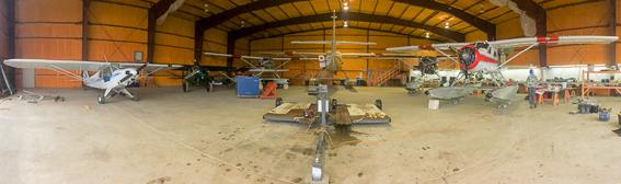 Rapids camp lodge planes in hanger
