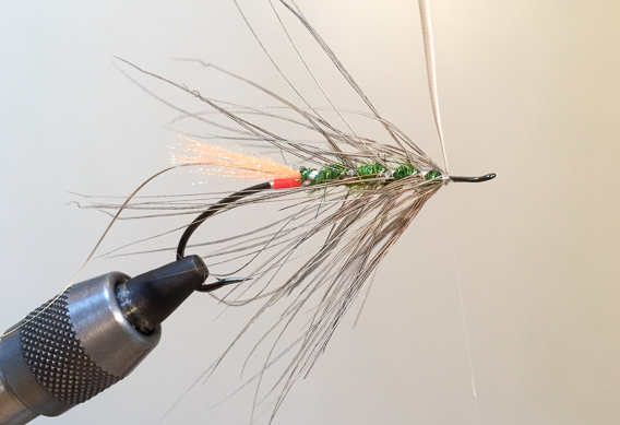 How to tie the lady caroline steelhead fly with modern materials-11
