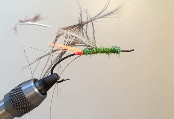 How to tie the lady caroline steelhead fly with modern materials-8