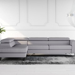 Grey Leather Corner Sofa Uk Two Cushion Slipcover Buy Brook Online In London Denelli Italia