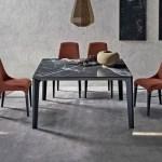 Buy Versus Square Marble Dining Table Online In London Uk Denelli Italia