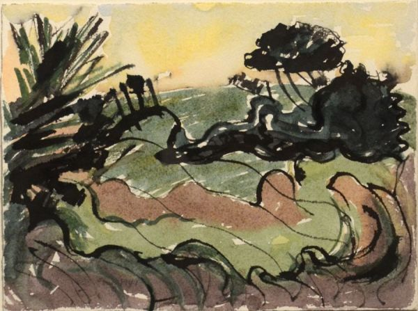 """A 1940Arthur Dove watercolor from the """"Centerport"""" series"""