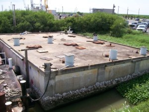 all concrete production barge