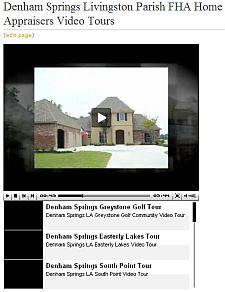 Denham Springs Livingston Parish FHA Appraiser Home Appraisers Video Tours