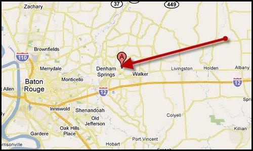 Summerfield-Subdivision-Denham-Springs-map