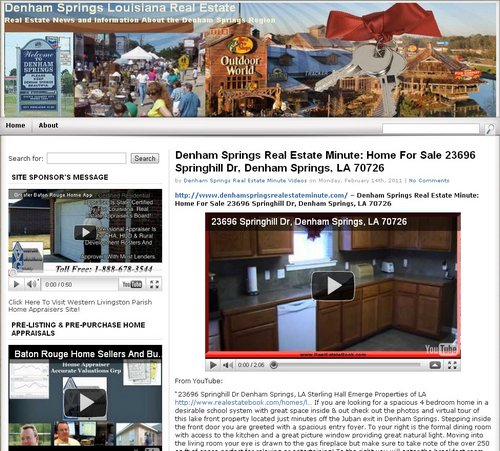 Denham Springs Real Estate Minute
