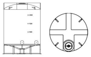 New Flat Top Cone Bottom Tanks