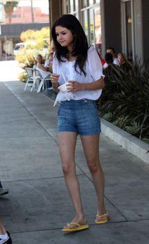Selena Gomez Jean Shorts