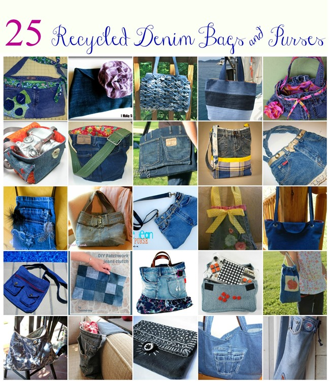 Handbag Jeans Patterns And Purse Homemade Made Out