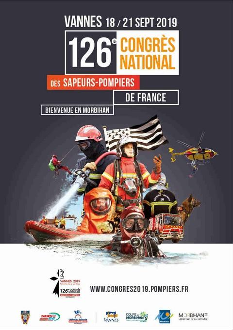 Affiche du congrès national des sapeurs-pompiers 2019 à Vannes