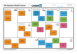 LinkedIn Business Model Canvas - BMC