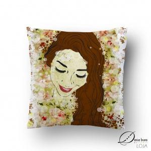Almofada decorativa ilustrada - Luzes de Primavera