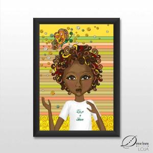 Pôster decorativo ilustrado - New Summer Day