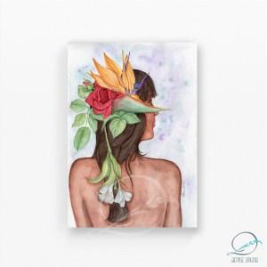 Alma Tropikanna - aquarela sobre papel - Denise Bruno artista