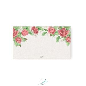 kit presente papelaria 1 - apresentação - cartão de felicitação padrão estampa floral rosas