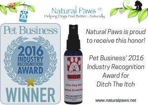 Ditch the Itch wins a 2016 Award