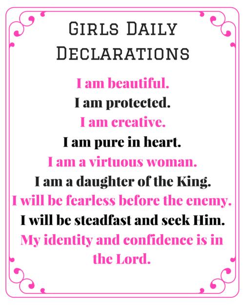 Daughter's Declarations