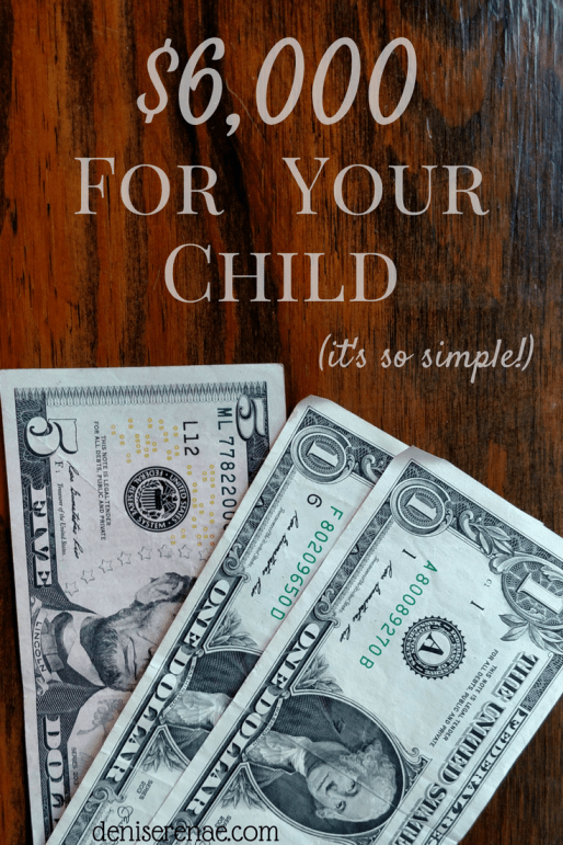 Wouldn't it be nice to have $6,000 set aside to help your child purchase their first car? There is a simple strategy to make that happen!