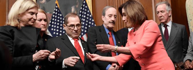 Speaker Pelosi distributes souvenir pens used to sign impeachment articles