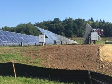 Denison's new solar panels produce electrical energy to power ... on battery solar panels, thermal solar panels, circuit solar panels, power solar panels, electric current solar panels, alternating current solar panels, fossil fuel solar panels,