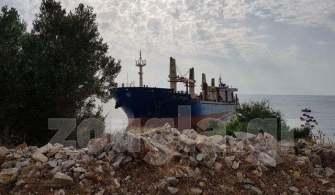 St. Gregory İsimli Gemi Ege Denizinde Karaya Oturdu
