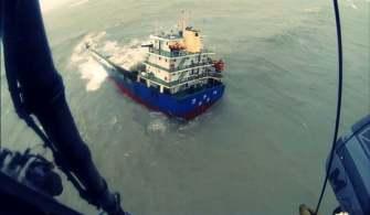 Batan Geminin Personeli Helikopter İle Kurtarıldı | Video
