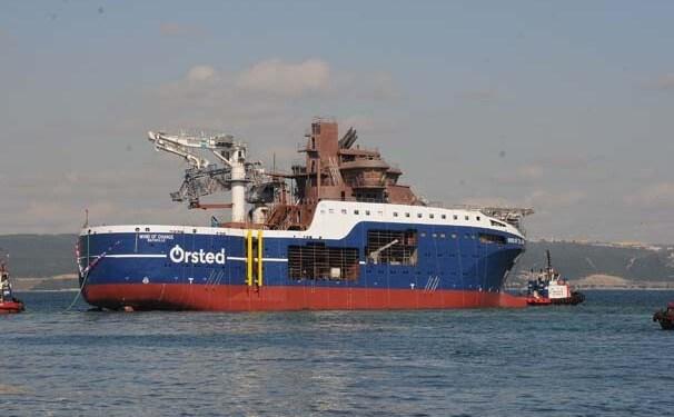 Fransız Firması İçin İnşa Edilen Rüzgar Türbini Destek Gemisi Suya İndirildi