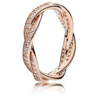 PANDORA PANDORA Rose Twist of Fate Ring :: Ring Stories ...