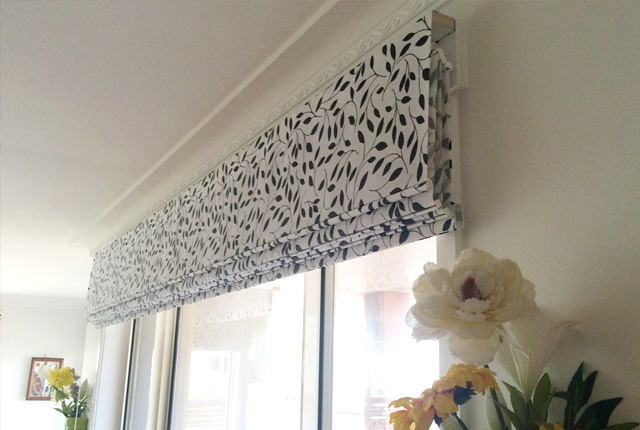 Patterned Roman Blinds London