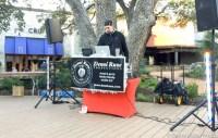 DJ Crispy spinning a track