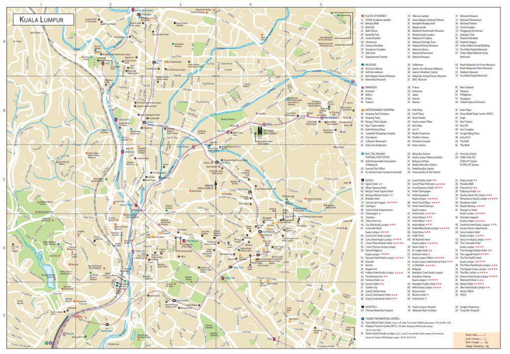 Kuala Lumpur City Centre Map