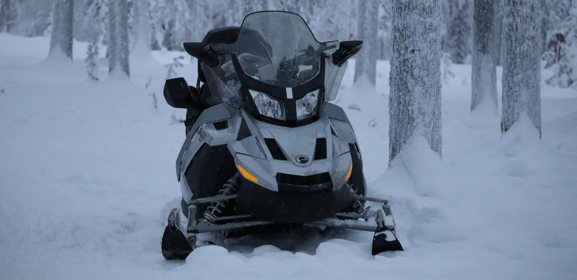 Sitting Snowmobile