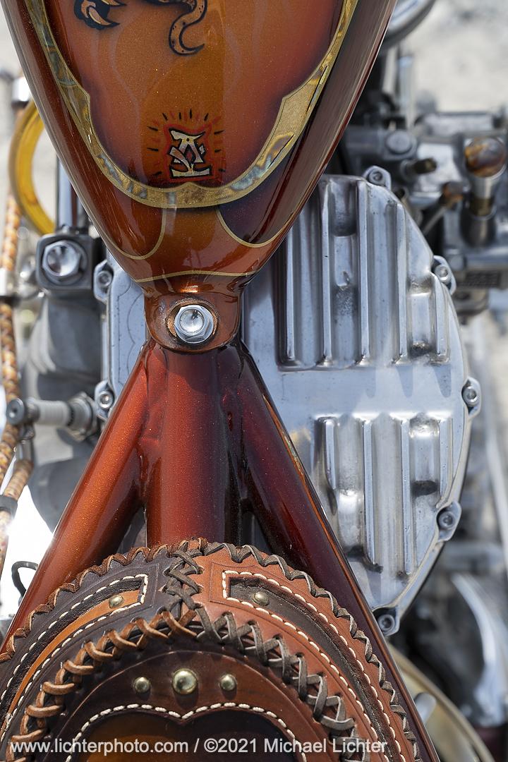 Custom bike in Jeff Holt's V-Twin Visionary Performance Bike Show at TMMR
