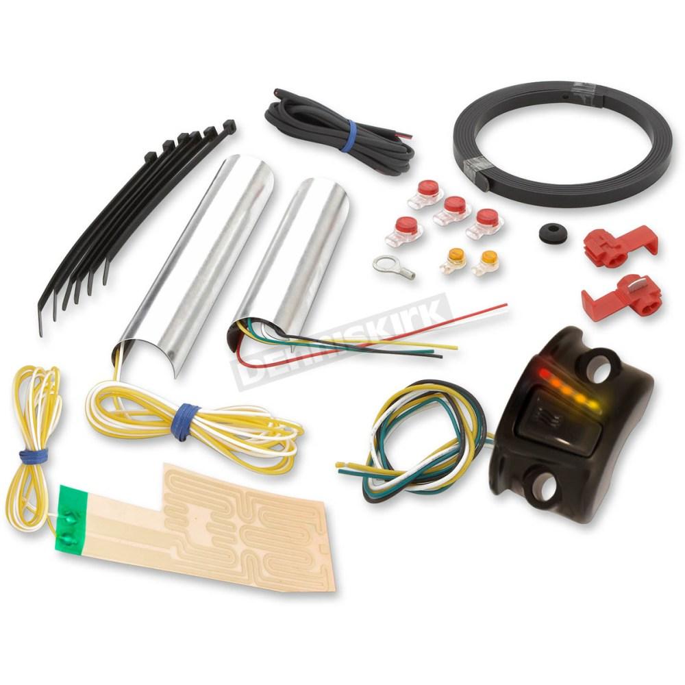 medium resolution of grip warmer kit for 1 in or 1 1 4 in handlebars