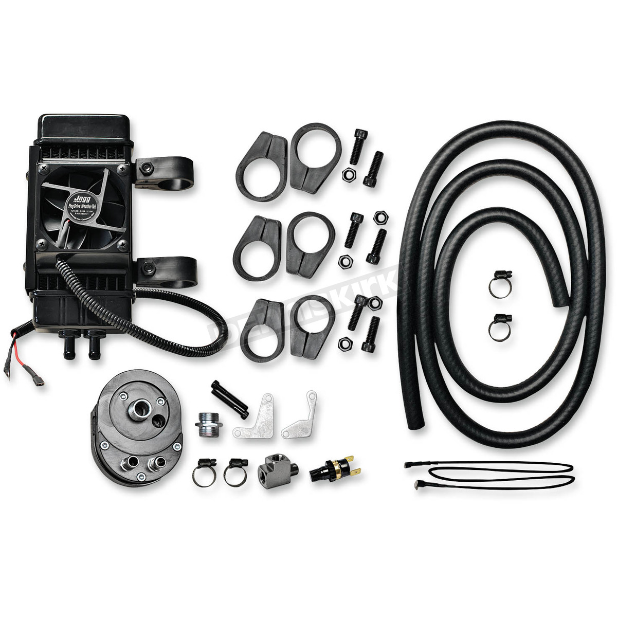 Jagg Vertical Frame-Mount Fan-Assisted Oil Cooler Kit