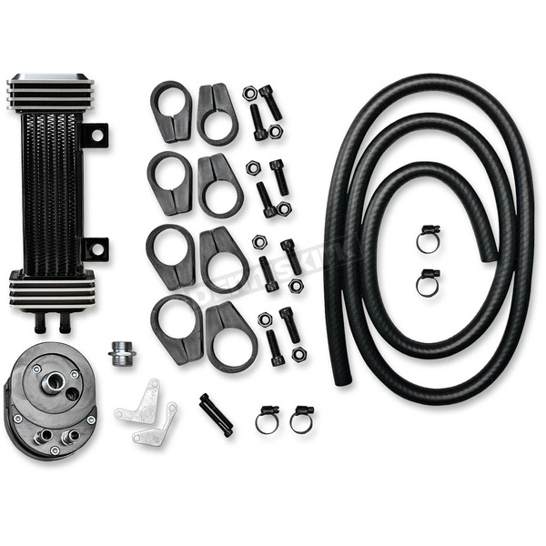 Jagg Deluxe 6-Row Vertical Frame-Mount Oil Cooler Kit