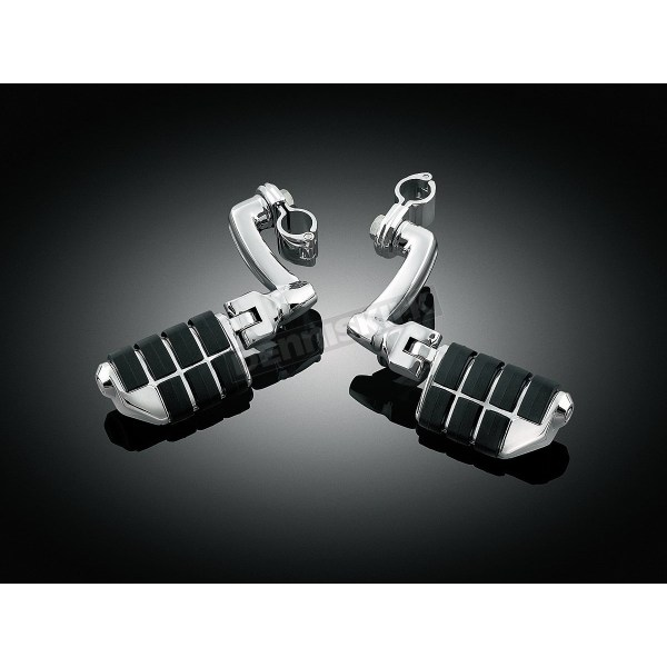 Kuryakyn Longhorn Offset Dually Highway Pegs With1 1 2 In. Magnum Quick Clamp - 4574 Harley