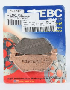 Ebc double  sintered metal brake pads fa hh also motorcycle rh denniskirk