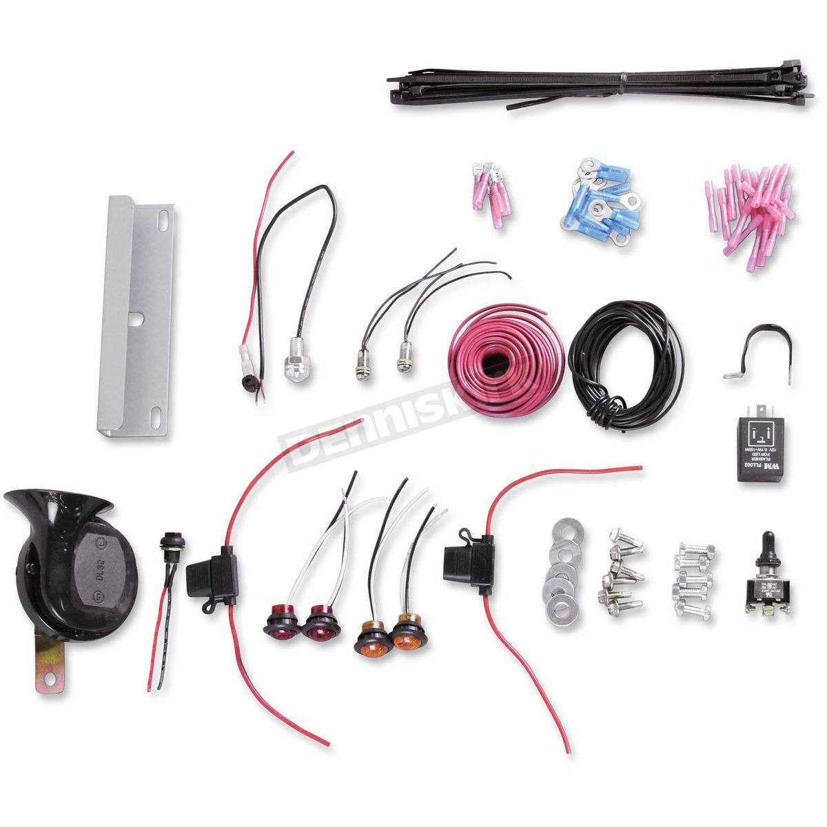hight resolution of moose atv utv mx street light turn signal horn kit 2020 universal chrome turn signal wiring kit 259001 atv dirt bike